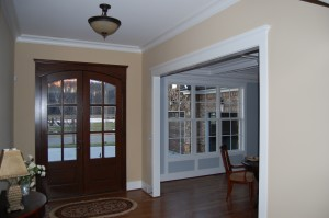 All Hard Wood Entry And Dining Room