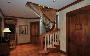Main Entry Spiral Stair Landing