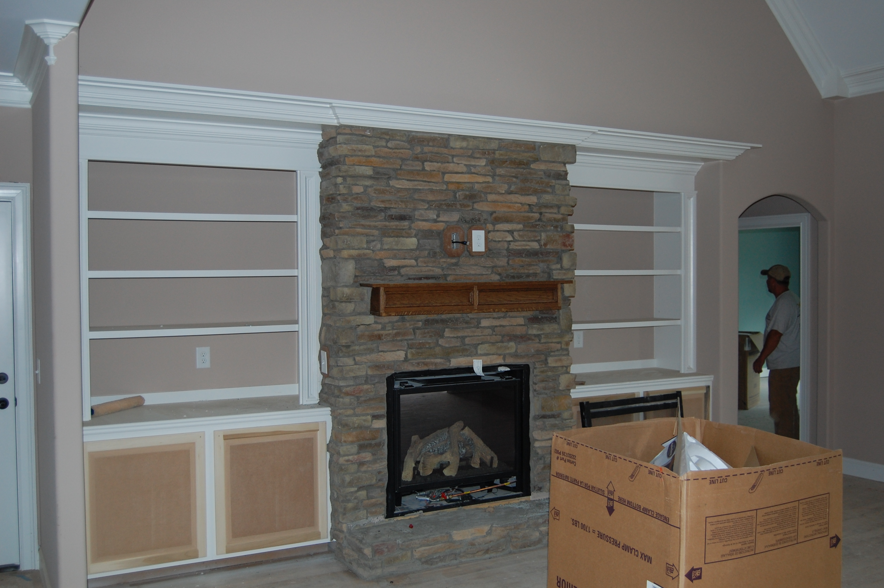Stone Built Fireplaces fireplace built ins traditional family room boston. hammers and