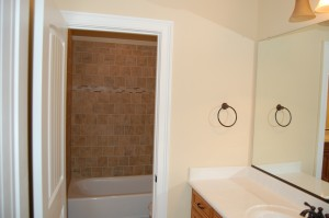 Upstairs Bathroom Private Sink For Each Bedroom
