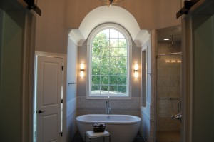 Master Bathroom Barreled And Vaulted Ceiling