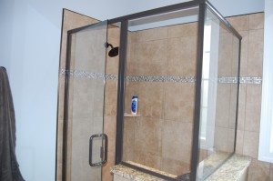 Master Shower Enclosure Tiled And Glass Walls
