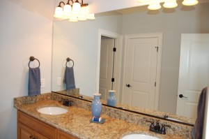 Upstairs Bathroom  His and Hers Sinks