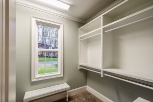 Master Closet Custom Built Shelving