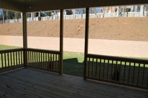 Rear Porch Interior