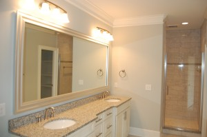 Master Bathroom His and Her Sinks