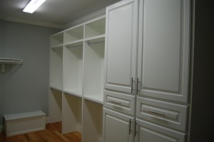 Master Closet Right Half Custom Wardrobe