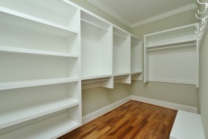 Master Closet Custom Storage Solution