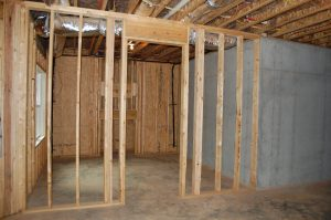 Unfinished Basement Area